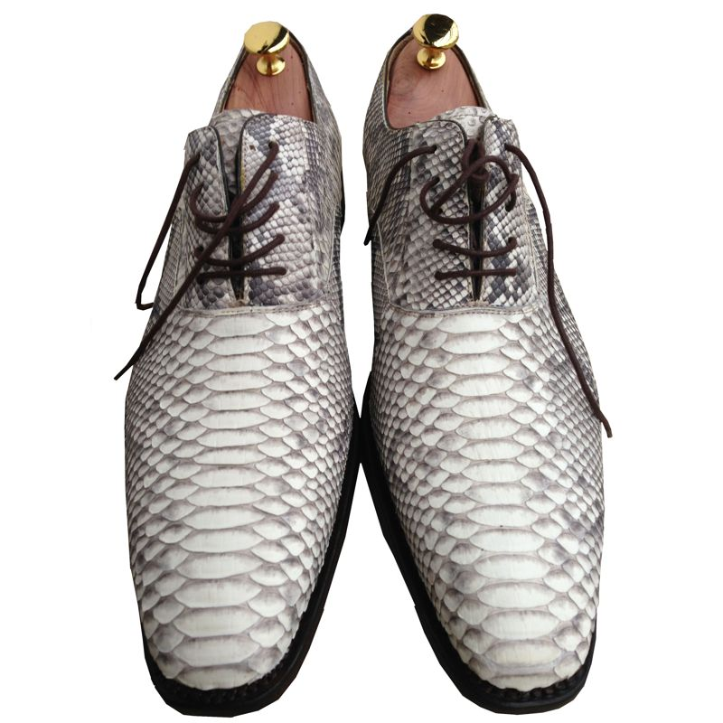Genuine Python Snake Leather Mens Shoes 003